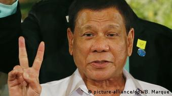 Philippinen Präsident Rodrigo Duterte (picture-alliance/dpa/B. Marque)