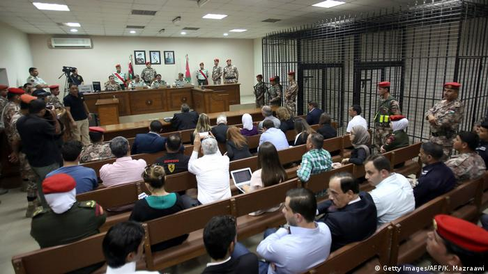 Jordanian judges preside over the trial of Maarik Al-Tawaiha