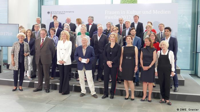 Prominent cultural leaders expressed how they are committed to supporting women, Frauen in Kultur und Medien presentation