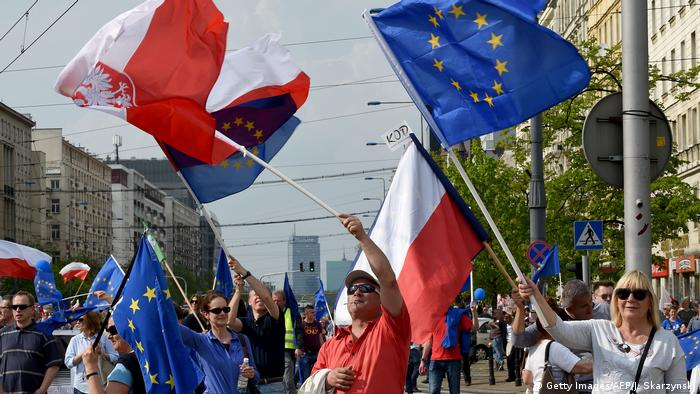 Polen Demonstration in Warschau (Getty Images/AFP/J. Skarzynski)