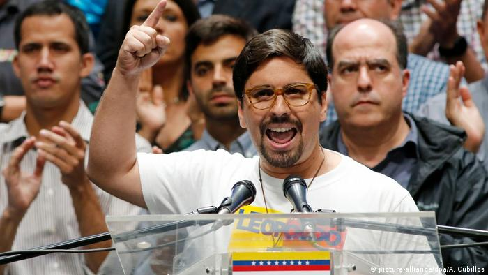Venezuela Oppositionelle Abgeordnete Freddy Guevara in Carracas (picture-alliance/dpa/A. Cubillos)