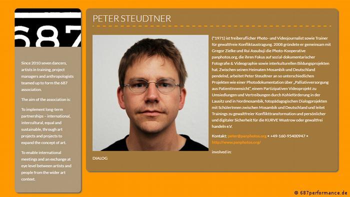 Screenshot der Wesbeite 687performance.de Peter Steudtner (687performance.de)