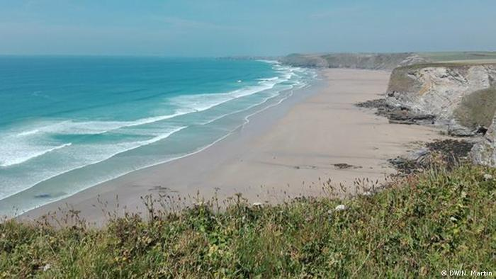 The beach at Watergate Bay in Cornwall (DW/N. Martin)