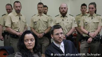 Beate Zschäpe in court in Munich