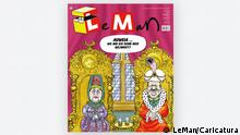 Caricature depicting Erdogan and Angela Merkel, cover of LeMan (LeMan/Caricatura)