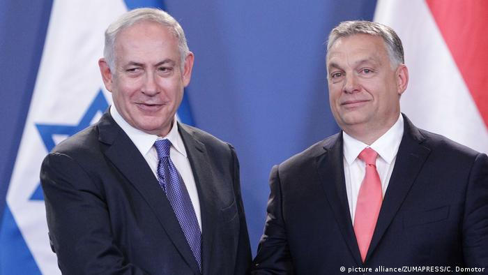 Premiê israelense, Benjamin Netanyahu, e primeiro-ministro húngaro, Viktor Orbán