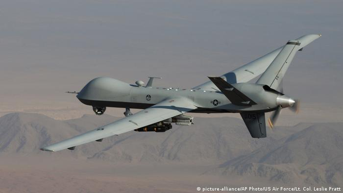 Afghanistan US-Drone MQ-9 Reaper (picture-alliance/AP Photo/US Air Force/Lt. Col. Leslie Pratt)