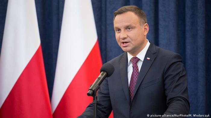 Polen Stellungsnahme des Präsidenten Andrzej Duda (picture-alliance/NurPhoto/M. Wlodarczyk)