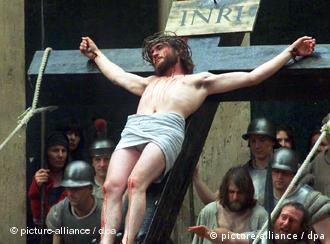 Actor portraying Jesus crucified