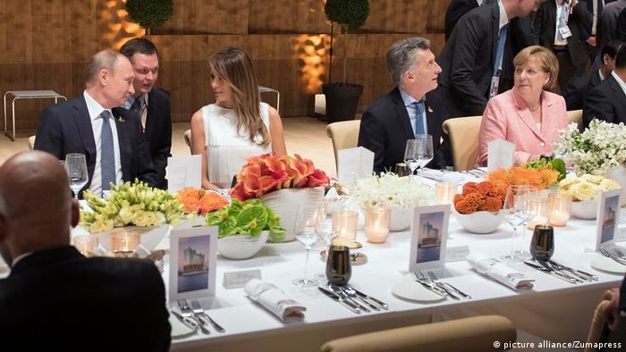 Володимир Путін, Меланія Трамп, Маурісіо Макрі і Анґела Меркель на вечері Великої двадцятки