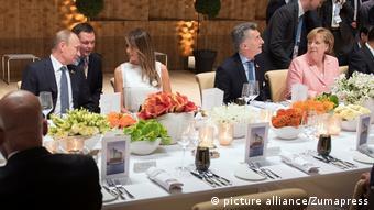 G20 Gipfel Konzert Dinner Melania Trump Wladimir Putin Angela Merkel Mauricio Macri (picture alliance/Zumapress)