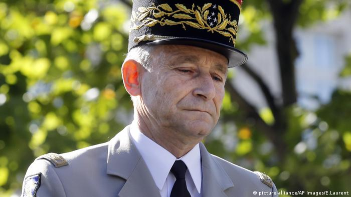 French army chief Pierre de Villiers Frankreich resigned on Wednesday.