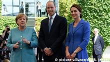 Berlin Angela Merkel & Prinz William, Herzogin Kate & Kinder