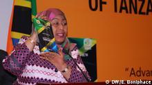 Wer: Tanzanian Vice President Samia Suluhu Wo: Dar es Salaam, Tanazania Wann: 17.07.2017 Fotograf: Ericky Boniphace, DW-Korrespondent. Alle Rechte gehen an die DW.