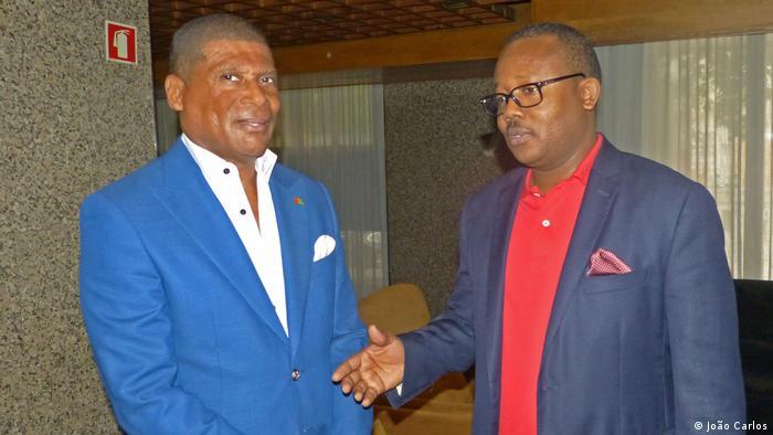 Porta-voz do Governo guineense e ministro do Turismo, Fernando Vaz, e Presidente da Guiné-Bissau, Umaro Sissoco Embaló