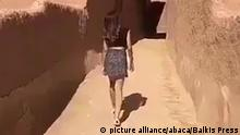 A video circulating on internet shows a young woman, named as Khouloud or Khulud or Ushaiger Girl, walking in a mini skirt and top in Ushaiger, Saudi Arabia at unknown date. She was arrested and being questioned for this provocative video, according to Saudi religious police. Ushaiger, that means Little Blonde, is a heritage village located 150 kilometers northwest of the Saudi capital Riyadh. Photo by Balkis Press/ABACAPRESS.COM  