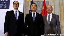 USA Washington - Steve Mnuchin, Wilbur Ross und Wang Yang