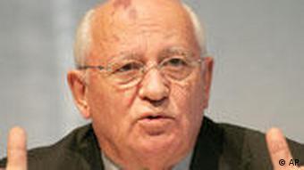 Portait von Michail Gorbatschow, Präsident der UdSSR und Erfinder von Glasnost und Perestroika. (Foto:AP)o/Markus Schreiber)
