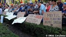 Republik Moldau Demonstrationen gegen das neue Wahlgesetz