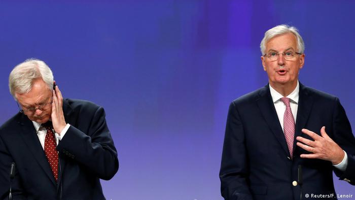 Belgien - Brexit-Verhandlungen mit Barnier und Davis in Brüssel (Reuters/F. Lenoir)