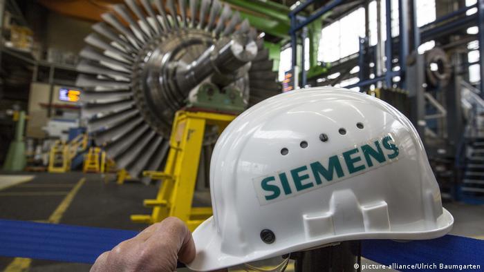 Производство газовых турбин на заводе Siemens в Берлине