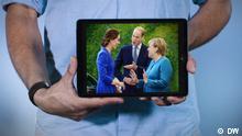 Herzogin Kate und Herzog William von Cambridge zu Besuch bei Kanzlerin Merkel Copyright: DW