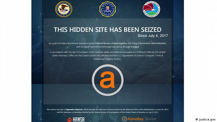 Alphabay seizure notice