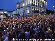 Протести проти судової реформи у Польщі: на вулиці Варшави вийшли 50 тисяч людей