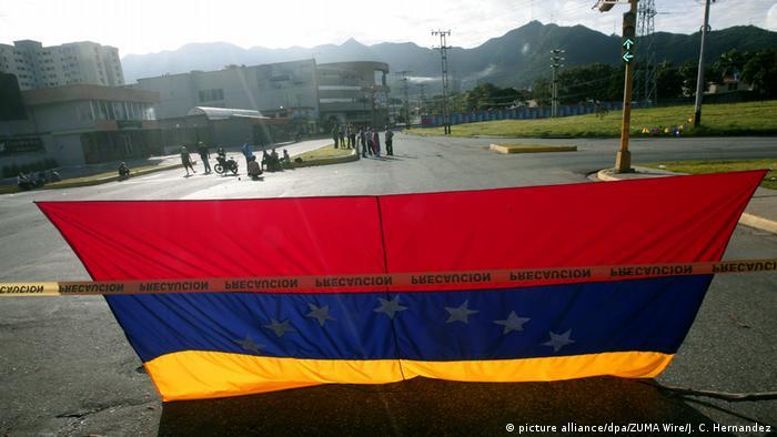Флаг Венесуэлы в Валенсии