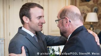 Frankreich Schulz trifft Macron (picture alliance/dpa/POOL Stern/M. Weiss)
