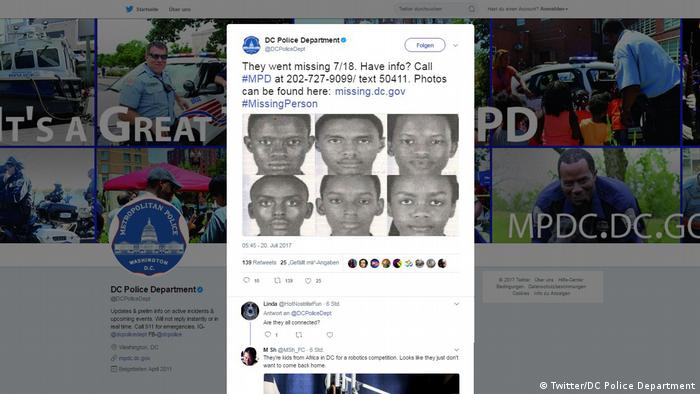 Screenshot Twitter DC Police Department (Twitter/DC Police Department)