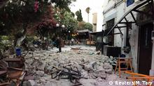 Damage caused by quake in Kos, Greece