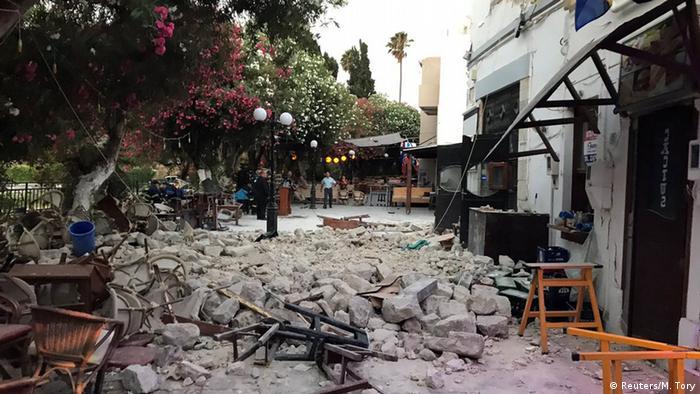 Griechenland Erdbeben und Zerstörung auf Kos (Reuters/M. Tory)