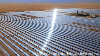Солнечная электростанция Shams 1 в Абу-Даби (Объединенные Арабские Эмираты)