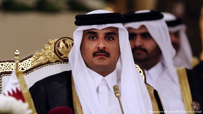 Katar Doha Scheich Tamim bin Hamad Al Thani (picture-alliance/AP Photo/O. Faisal)