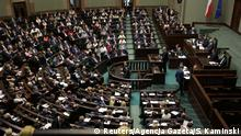 Polen Parlament in Warschau, Debatte Justizreform