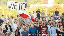 Polen Protest gegen Justizreform in Warschau