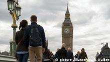 UK London Palace of Westminster mit Big Ben