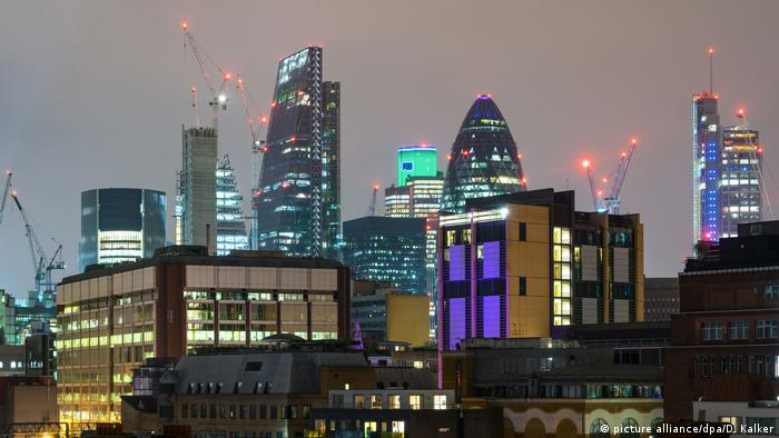 UK London | Skyline des Londoner Finanzzentrums The City (picture alliance/dpa/D. Kalker)