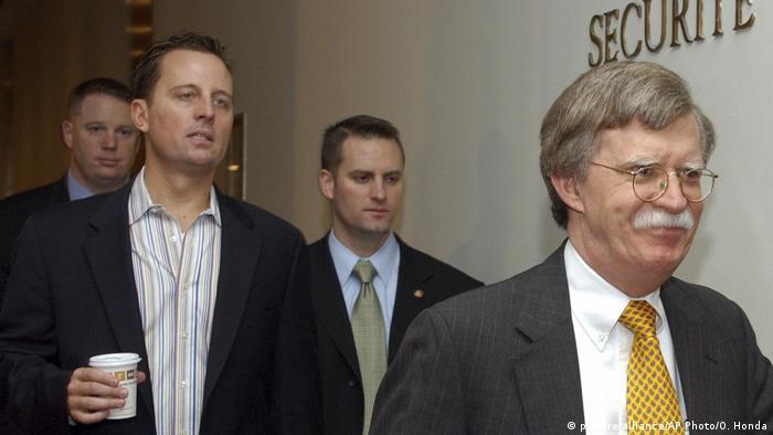 UN Spokesperson Richard Grenell follows US Ambassador to the UN John Bolton