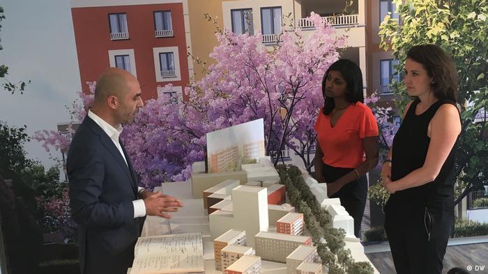 Sumi Somaskanda and Nina Haase with Zabel Property agent
