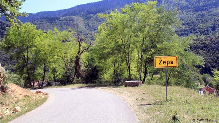 Bosnien UN-Schutzzone Žepa - 22 Jahre nach der Einnahme durch die Serben | Einfahrt in Ex Un-Schutzzone (DW/M. Sekulic)