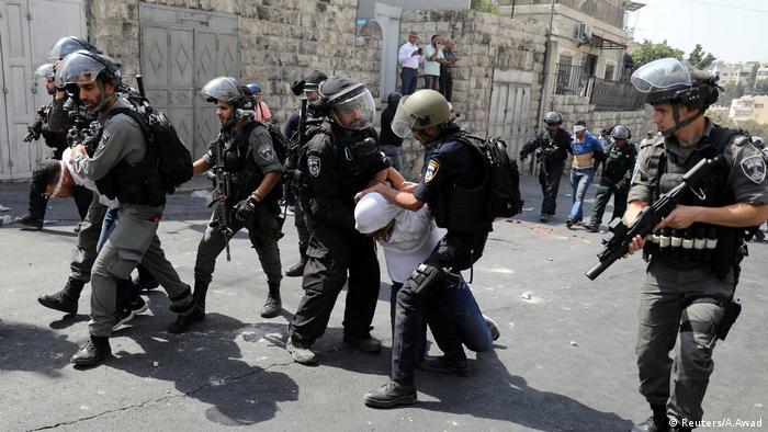 Jerusalem Tempelberg Unruhen Polizei Protest (Reuters/A.Awad)