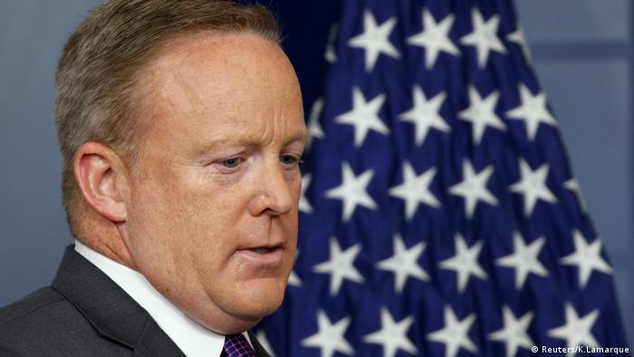 Sean Spicer tritt zurück USA (Reuters/K.Lamarque)