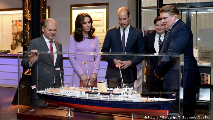 Olaf Scholz with Prinz William and Duchess Kate in Hamburg (Picture Alliance/dpa/D. Bockwoldt/dpa-Pool)