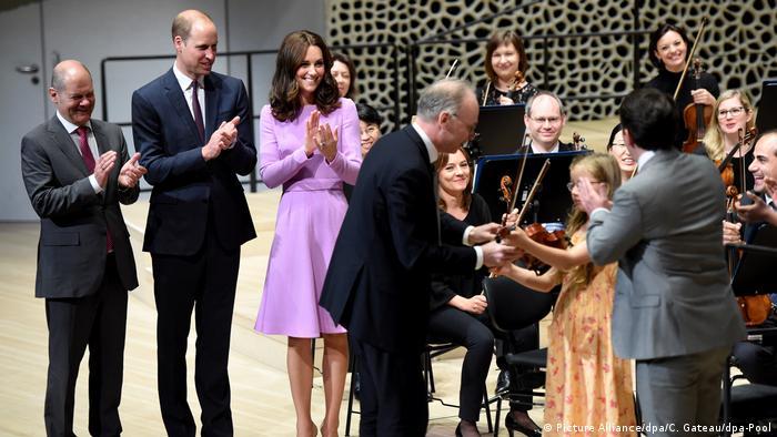 Принц Вільям та герцогиня Кейт в Ельбській філармонії