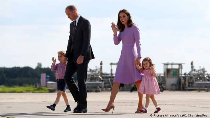 Prens Wiliam ve Cambridge Düşesi Catherine'nin çocukları ile birlikte Hamburg ziyareti - 21 Temmuz 2017