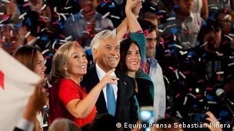 Sebastián Piñera y su esposa, Cecilia Morel.