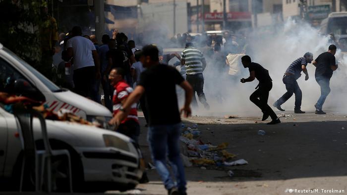 Protest clashes near Ramallah