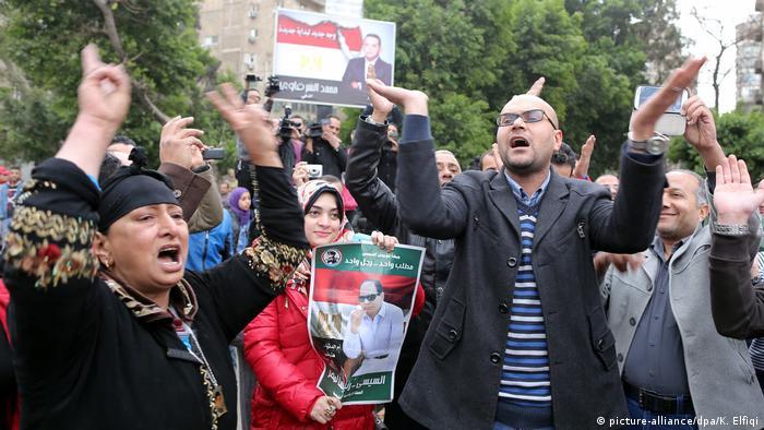 BG Katar-GCC | Proteste gegen Katars Unterstützung der Muslimbrüder in Kairo